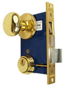 Marks 22ac Right Hand Reverse Double Cylinder Ornamental Knob Rose Mortise Lock