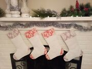 Quilted Christmas Stocking, Lot Of 4 Christmas Stockings, Home Made Handmade