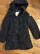 Moncler Navy Girls Size 10 Mid-length Down Jacket