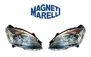 New Mercedes Set Of Left And Right Xenon Headlights Marelli Lus6121 / Lus6122