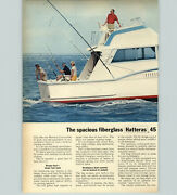 1970 Paper Ad 2 Pg Hatteras 45 Convertible Motor Boat Yacht Rockwell