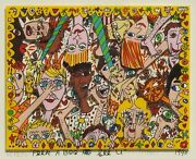 James Rizzi Peek A Boo - I See You 3-d Construction Lithograph