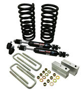 1949-54 Chevy Belair Deluxe Front Coil Spring Kit And Lowering Block Kit - 2 Drop