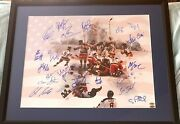 1980 Us Olympic Hockey All 20 Team Signed Miracle On Ice 16x20 Photo Framed Leaf