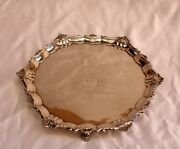 Magnificent English 1834 Sterling Silver Salver John Wrangham And William Moulson