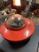 Outer Space Tin Toy Ufo Flying Saucer