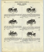 1917 Paper Ad 3 Pg Gendron Vintage Early Toy Pedal Car Blue Streak Race Cars