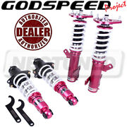 Godspeed Mss0890-c Monoss Coilovers Camber Plates Kit For Toyota Corolla 09-13