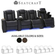 Seatcraft Enigma Leather Home Theater Seating Recliners Seat Chair Couch