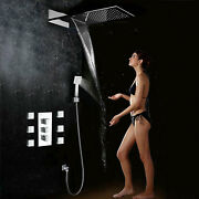 Re Thermostatic Mixer Valve Waterfall Shower Faucet Body Massage Spray Jets