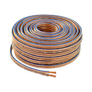 Car Home Audio Speaker Wire Transparent Clear Cable 14awg 100ft 14/2 Gauge