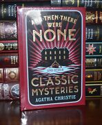 And Then There Were None Mysteries By Agatha Christie New Sealed Leather Bound