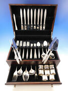 Spanish Lace By Wallace Sterling Silver Flatware Service For 8 Set 68 Pieces