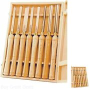 Wood Lathe Chisel Set Woodworking Turning Tools Piece High Speed Chisels 8-piece