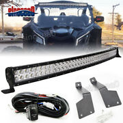 For Can-am Maverick X3 Max Turbo 42 Curved Led Light Bar + Roof Mount Brackets