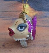 Katherine's Collection Tropical Fish Mini Princess Sparkly Lips And Crown Ornament