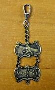 Very Rare 1800and039s Baseball Watch Fob 2 Tier Victorian