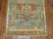 Vintage Turkish Oushak Ushak Rug Runner Size 3and0394and039and039x8and0399and039and039