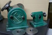 """L-w 11"""" Chuck Dividing Head W/ Tail Stock,face Plate And Plates"""