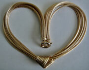 Vintage 14k Yg 8 Strand Knotted Chain Necklace 48.3 Grams