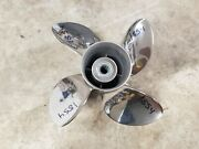 New 4 Blade 13 X 21p Evinrude Johnson Rogue Stainless Propeller 763968 1854