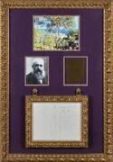 Claude Monet - Autograph Letter Signed - Sells Paintings And Wife's Fatal Illness