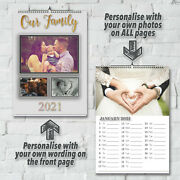 Personalized 12 Month Wall Calendar With Wording And Photos | 2021 | A3 A4 A5