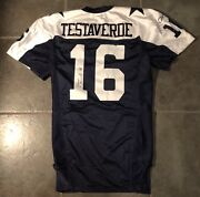 Dallas Cowboys Game Issued Vinny Testaverde Jersey 2004 Throwback Autographed
