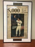 Limited Edition Nolan Ryan Signed Newspaper 5000th Strikeout