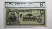 10 1902 Dunellen New Jersey Nj National Currency Bank Note Bill 8501 Vf20 Pmg
