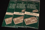Lot Of 3 Manger Hotels And Motor Inns Matchcovers Match Book Covers Matchbook