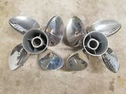 New Pair Of 4 Blade 14 1/8 X 18p Evinrude Johnson Cyclone Ss Props 1970 1971