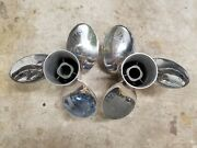 New Pair 15 1/8 X 20p Evinrude Johnson Rebel Ss Props Tbx 1984 And 1985