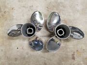 New Pair 15 1/8 X 20p Evinrude Johnson Rebel Ss Props Tbx 1986 And 1987