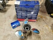 New Left Hand 14 1/2 X 21p Evinrude Viper Ss Prop, Tbx Hub Kit Included, 1998