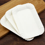 4x6 Rectangular Off White Party Bbq Disposable Paper Plate For Dinner