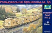 Unimodel 1/72nd Wwii German Train Recon Armored 10 Railcars Model Kit 261 New