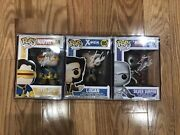 Funko Pop Stan Lee Signed Lot Cyclops Logan Silver Surfer X-men Marvel