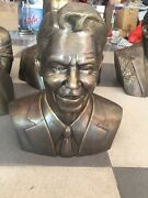 Ronald Reagan Bust Statue Solid Bronze Brass 28cm Height Limited Edition