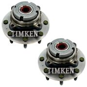 Pair Set 2 Front Timken Wheel Bearing And Hub Kits For Ford F-250 F-350 S Duty 4wd