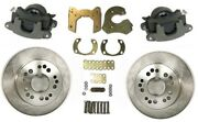 Street Rod Bolt On Rear Disc Brake Kit With Gm Metric Calipers For 9ford 5x5 Bp
