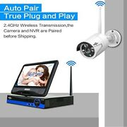 All In One Monitor Wireless Security Camera System 10.1and039and039lcd Home Audio 2k-3.0mp