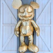 Gold Collection Mickey Mouse Large Plush 2018 Disney Store Limited Release 90th