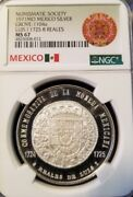 1971 Mexico Silver Grove 1104a Luis I 1725 8 Reales Ngc Ms 67 High Grade Beauty