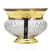 New Rare House Of Waterford Crystal Lismore Castle Gilded Bowl 4/50 Msrp 3500