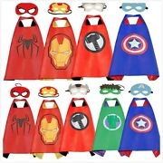 Superhero Capes With Masks Dress Up Costumes For Kids Boys Girls Party Cosplay