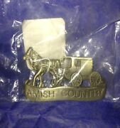 Amish Country Horse Carriage Cart Refrigerator Magnet By Josef 1990