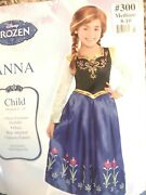 Disney Frozen Anna Deluxe Costume And Child Wig Complete Set