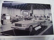 1981 Plymouth Reliant Convertible Auto Show Display 11 X 17 Photo / Picture