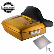 Wrap Around Backrest Hard Candy Gold Flake Chopped Tour Pack For 2014+ Harley